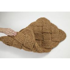 Knot-ical Handwoven Coconut Fiber Doormat