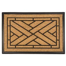 Diagonal Tiles Recycled Rubber and Coir Doormat