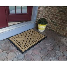 Diagonal Tiles 24x36 Recycled Rubber and Coir Doormat