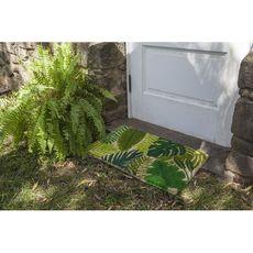 Tropical Leaves Handwoven Coconut Fiber Doormat