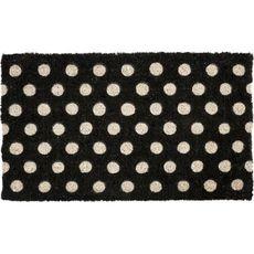 White Polka Dots Handwoven Coconut Fiber Doormat