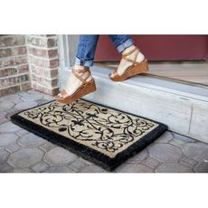 Iron Grate Rectangle 18x30 Extra - Thick Handwoven Coconut Fiber Doormat