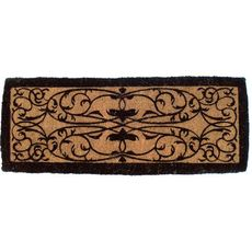 Iron Grate Rectangle 18x47 Extra - Thick Handwoven Coconut Fiber Doormat