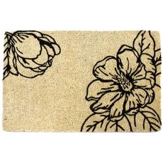 WILLIAMSBURG Magnolia Blossom Handwoven Coconut Fiber Doormat