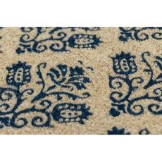 WILLIAMSBURG Tulip Damask Handwoven Coconut Fiber Doormat