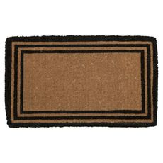 The One with the Border Extra - Thick Handwoven Coconut Fiber Doormat