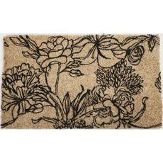 Ink Bouquet Handwoven Coconut Fiber Doormat