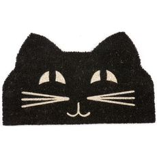 Cat Face Coir Doormat with Backing