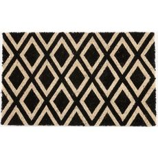 Rhombi Coir Doormat with Backing