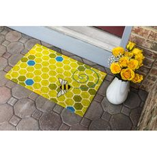 Honeycomb Coir Doormat with Backing