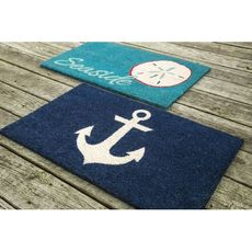 Seaside Coir Doormat with Backing