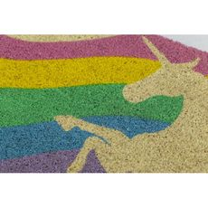 Unicorn Coir Doormat with Backing