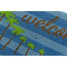 Palm Trees Coir Doormat with Backing