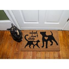 Adopt, Don't Shop Coir Doormat with Backing