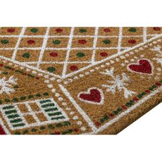 Gingerbread Coir Doormat with Backing