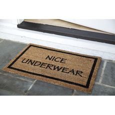 Nice Underwear Coir Doormat with Backing