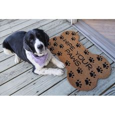 Wipe Your Paws Coir Doormat with Backing