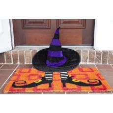 Wicked Witch Shoes Handwoven Coconut Fiber Doormat