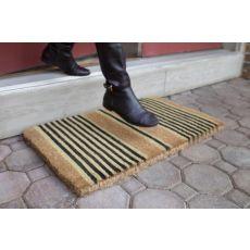 Ticking Stripes Black Extra Thick Coconut Fiber Doormat
