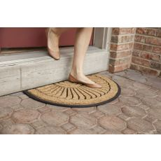 Shell Half Round Recycled Rubber & Coir Doormat