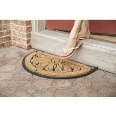 Tulips Recycled Rubber & Coir Doormat