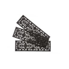 Fleur Di Lys Stair Tread Recycled Rubber (Set Of 3) Doormat