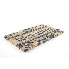 Damask Welcome Handwoven Coconut Fiber Doormat