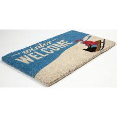 Winter Welcome Handwoven Coconut Fiber Doormat