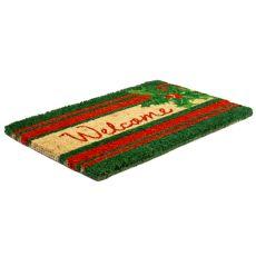 Welcome Holly Hand Woven Coir Doormat