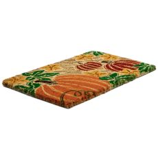 Pumpkin Patch Hand Woven Coir Doormat
