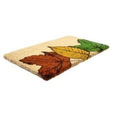 Fallen Leaves Hand Woven Coir Doormat