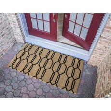 Gossamer 36X72 Extra - Thick Handwoven Coconut Fiber Doormat
