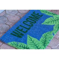 Palms Welcome Handwoven Coconut Fiber Doormat