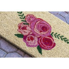 Roses Handwoven Coconut Fiber Doormat