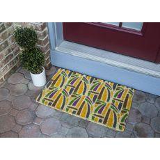 Kaleidoscope Handwoven Coconut Fiber Doormat
