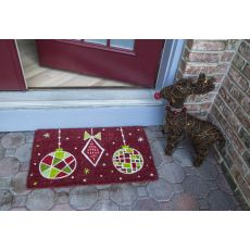 Geo Ornaments Handwoven Coconut Fiber Doormat