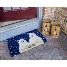 Polar Bears Handwoven Coconut Fiber Doormat