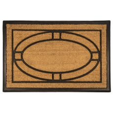 Ellipse 24X36 Recycled Rubber & Coir Doormat