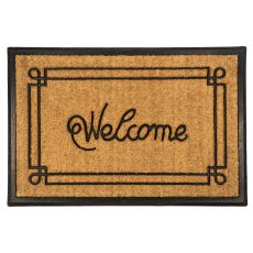 Welcome With Border 24X36 Recycled Rubber & Coir Doormat