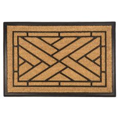 Diagonal Tiles Recycled Rubber & Coir Doormat