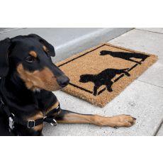 Dog Silhouettes Handwoven Coconut Fiber Doormat