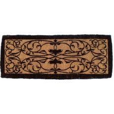 Iron Grate Border 36X72 Extra - Thick Hand Woven Coir Doormat