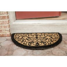 Iron Grate Half Round Extra - Thick Hand Woven Coir Doormat