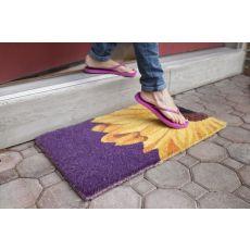 One Sunflower Hand Woven Coir Doormat