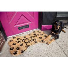 Wipe Your Paws Hand Woven Coir Doormat