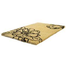 Magnolia Blossom Handwoven Coconut Fiber Doormat