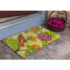 Summer Peony Handwoven Coconut Fiber Doormat