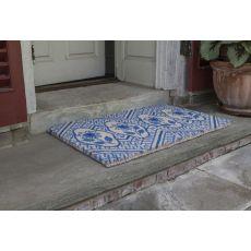 Delft Flowers Handwoven Coconut Fiber Doormat