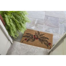 Berry Branch Handwoven Coconut Fiber Doormat