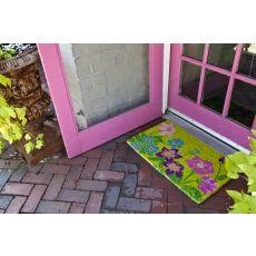 Wildflower Power Hand Woven Coir Doormat